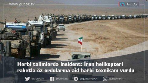 Araz qırağı hərbi təlimlərdə insident: