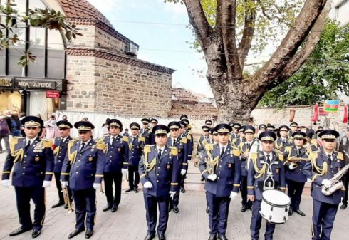 Hərbi Məktəbin orkestr heyəti Türkiyədə beynəlxalq festivalda iştirak edib.