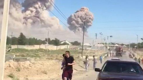 Qazaxıstanda daha bir sursat anbarında partlayış